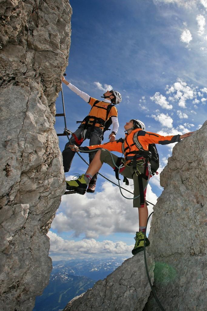 Klettersteige im Dachstein bei Ramsau